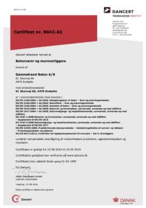 DTI Certifikat B042-02