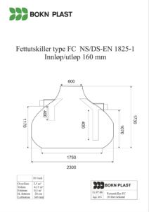 Tegning Fedtudskiller FC-10L