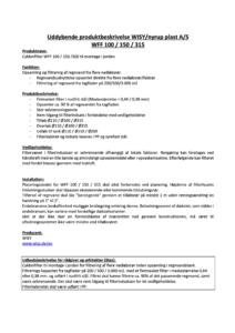 Uddybende produktbeskrivelse WFF 100/150/315